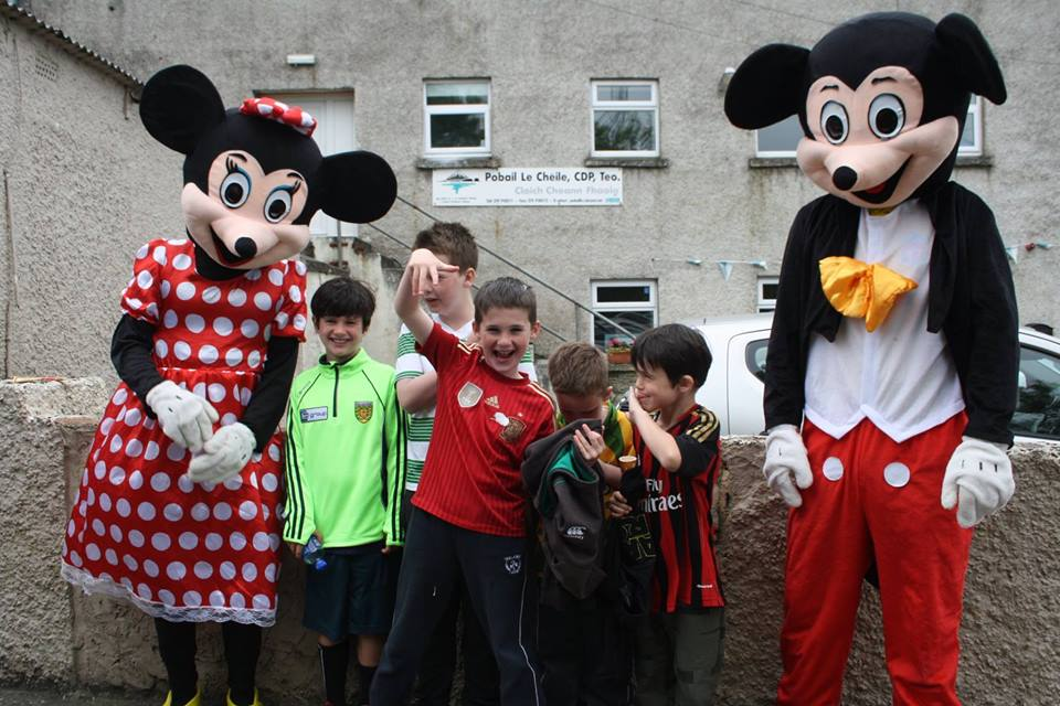 Special guests and some of the children at the 25th June Children's Party at the YARD