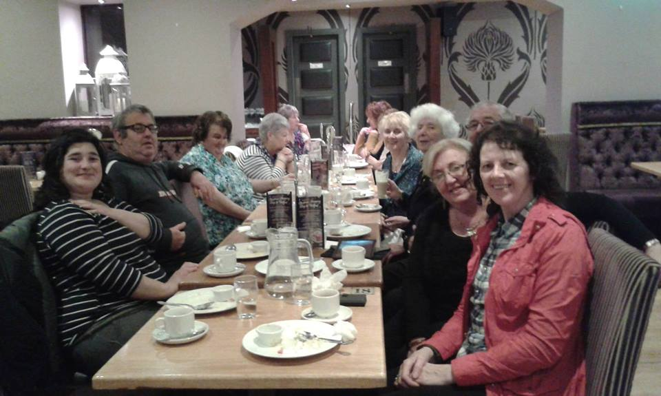 Some the participants in the Cumann Cairdeas Letterkenny trip to Newmills and Arena 7 on September 27th.